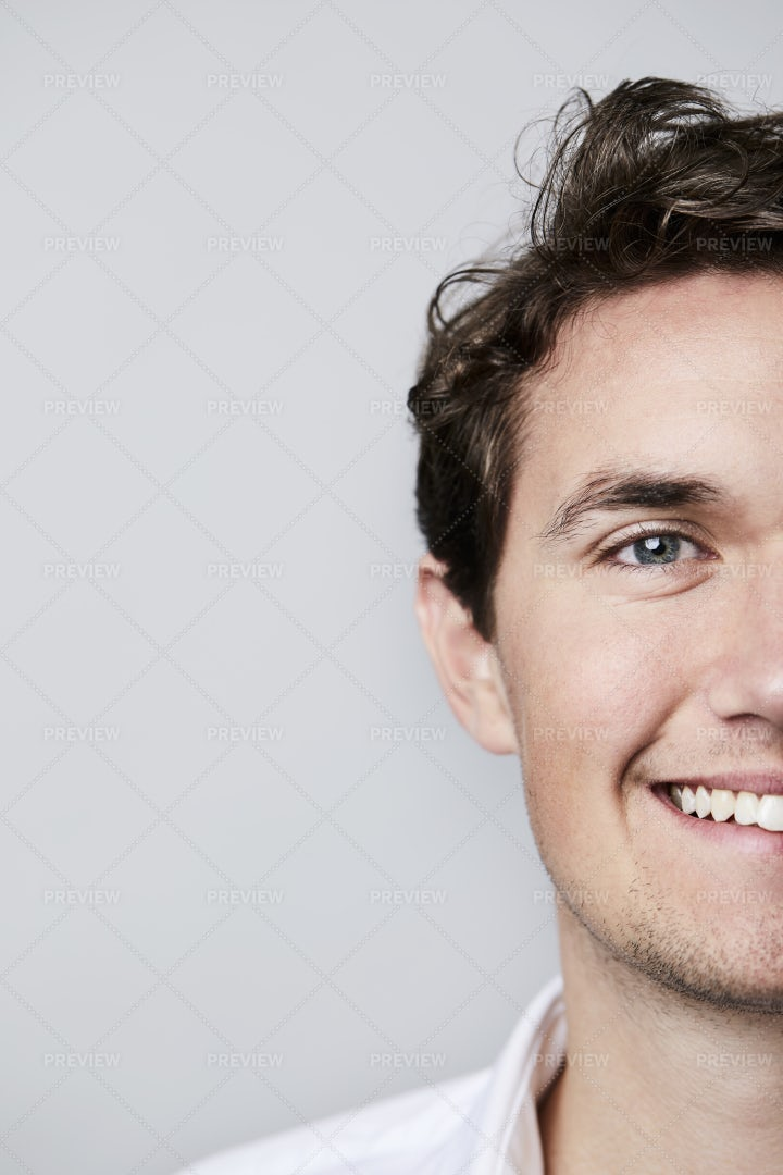 Portrait Of Half Face: Stock Photos