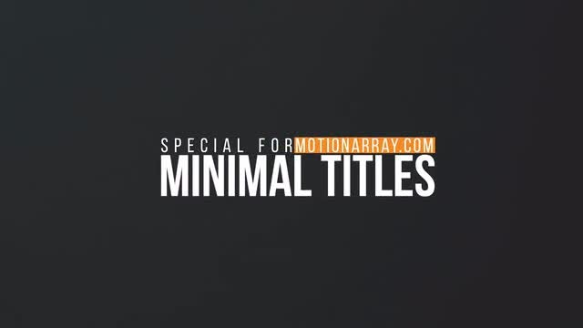 Minimal Motion Titles: After Effects Templates
