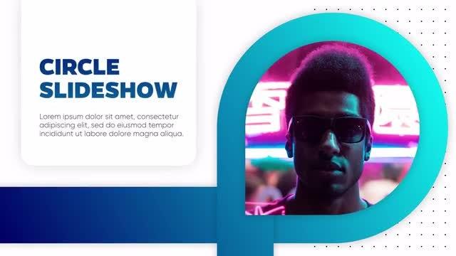 Circle And Line - Slideshow: Premiere Pro Templates