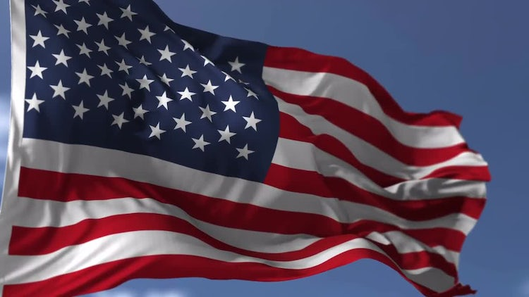 United States Flag: Stock Motion Graphics