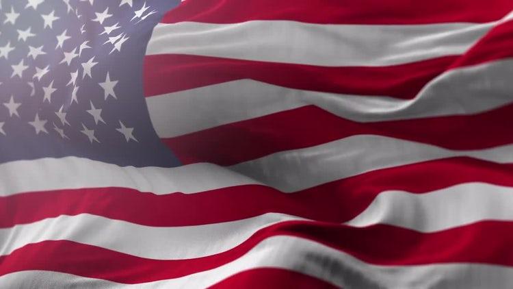 Realistic USA Flag: Motion Graphics