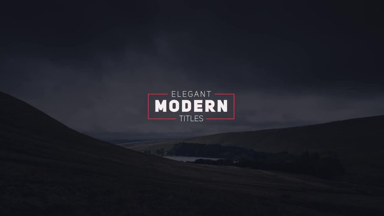 Elegant Modern Titles: After Effects Templates