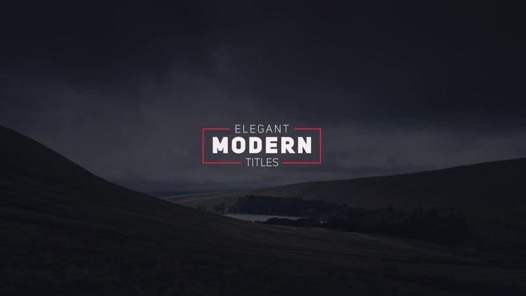 Elegant Modern Titles: After Effects Templates