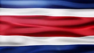 Costa Rica Flag: Motion Graphics