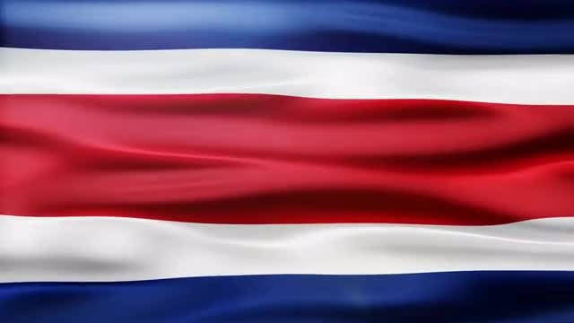 Costa Rica Flag: Stock Motion Graphics