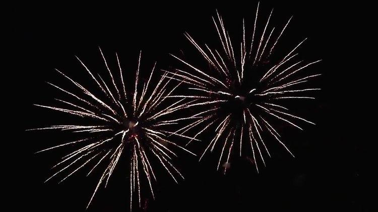 Festive Fireworks: Stock Video
