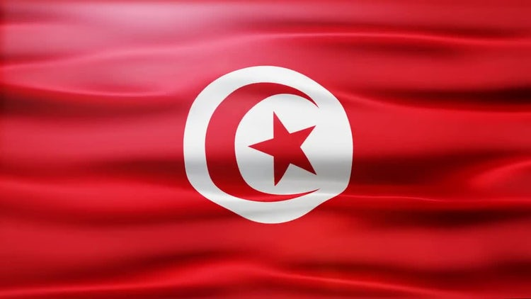 Tunisia Flag: Stock Motion Graphics
