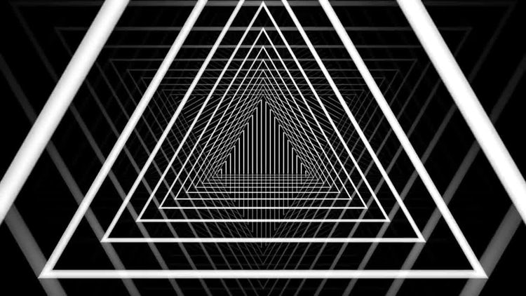 Triangle Tunnel Background: Stock Motion Graphics