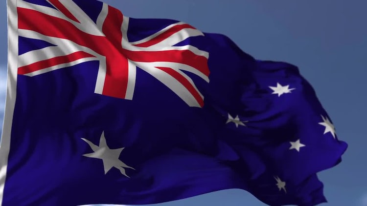 Australian Flag: Stock Motion Graphics