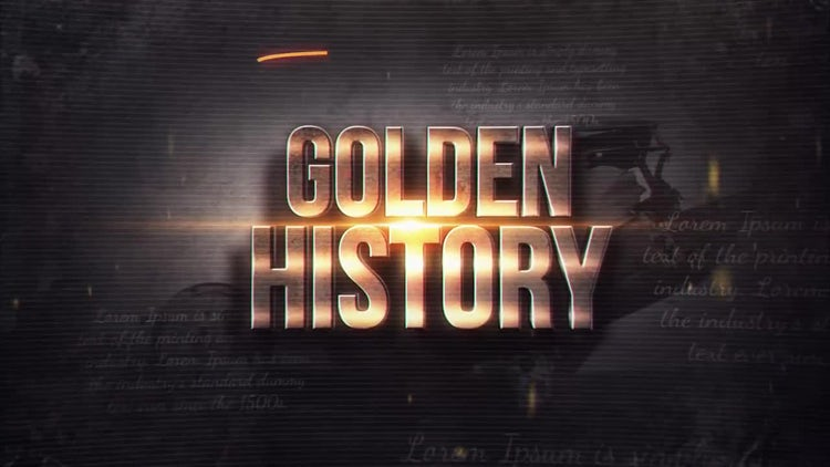Golden History: After Effects Templates