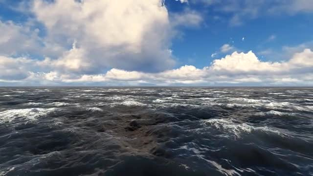 Around Sea Waves: Stock Motion Graphics