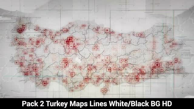 Turkey Maps: Stock Motion Graphics