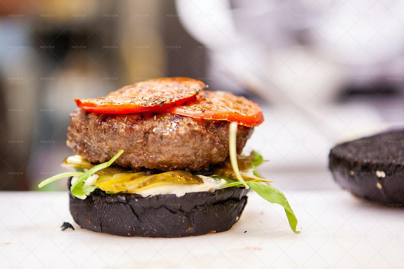 Fine Burger Dish: Stock Photos