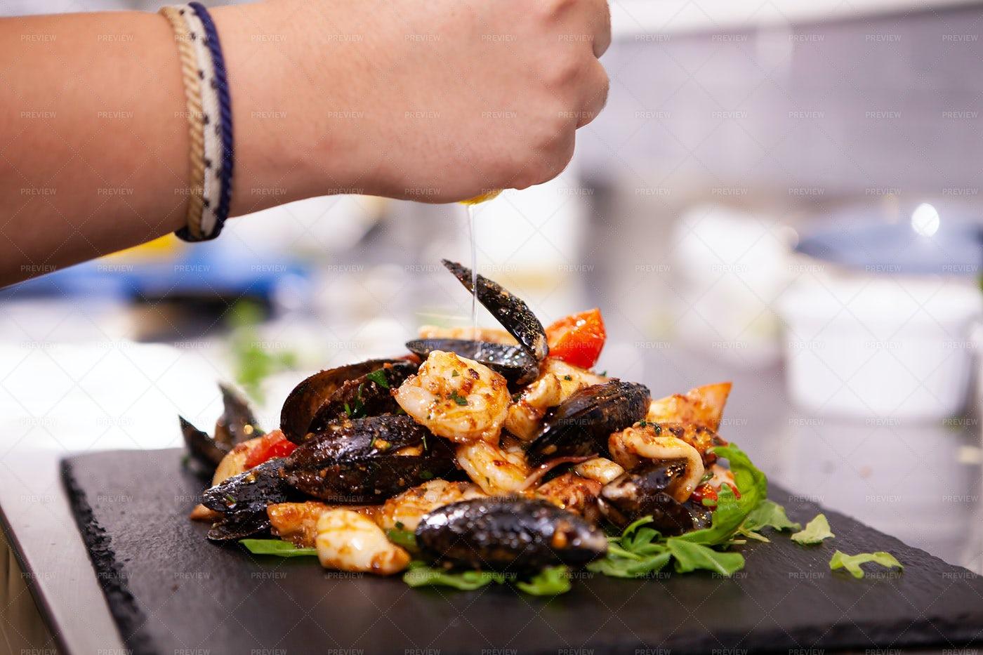 Fine Seafood Cuisine: Stock Photos
