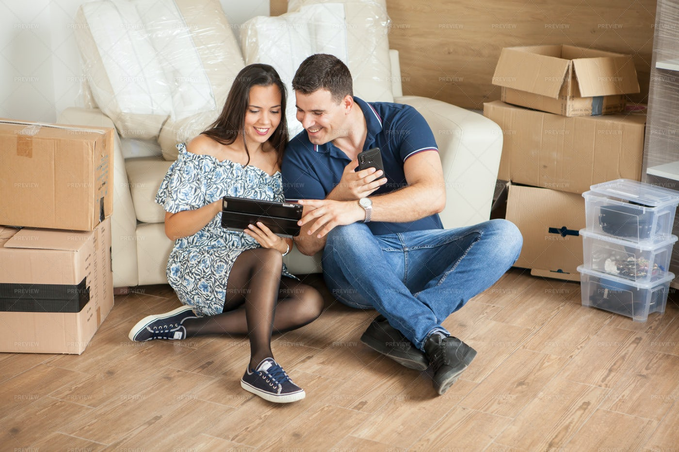 Couple In New House: Stock Photos