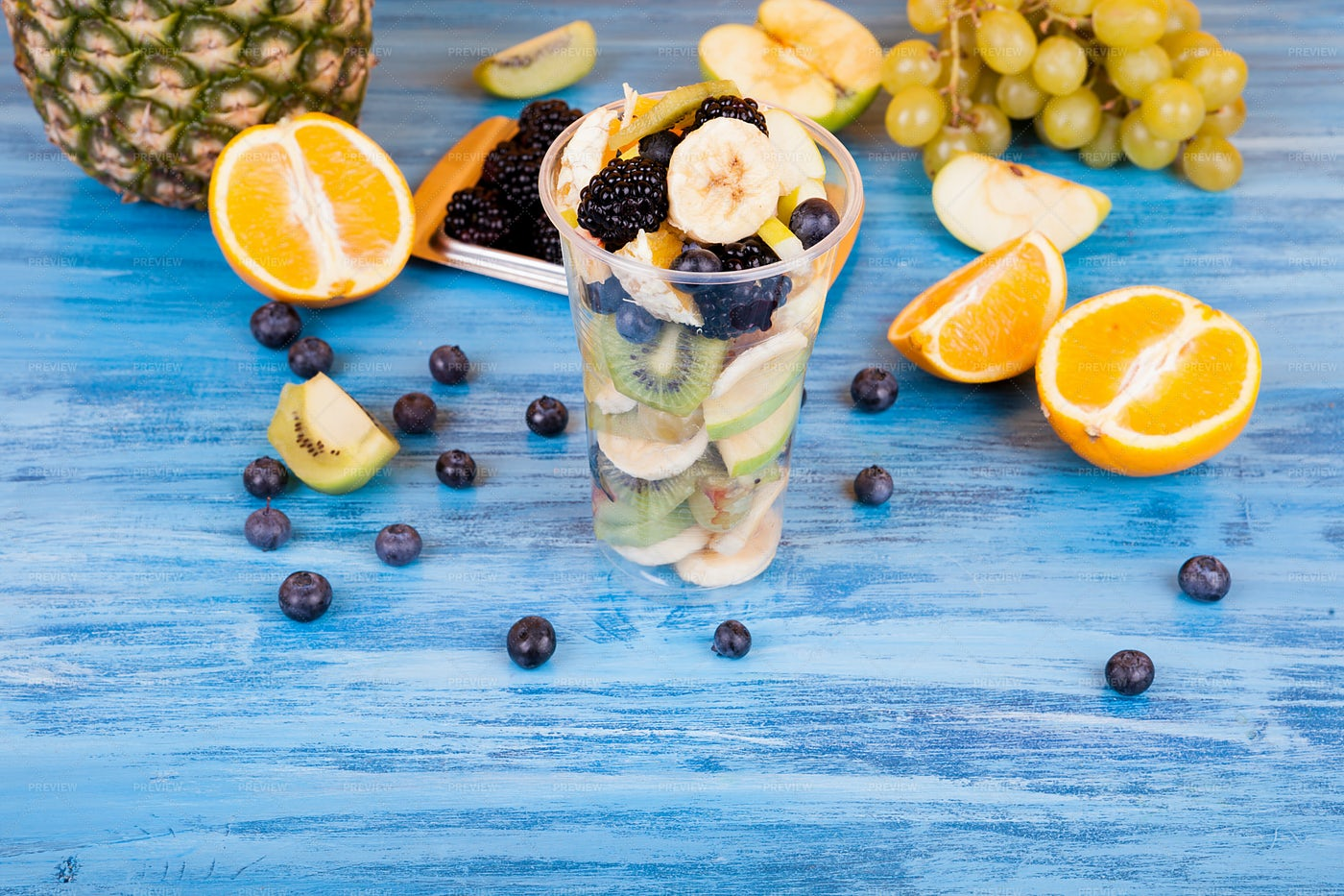 Cup With Exotic Fruits: Stock Photos