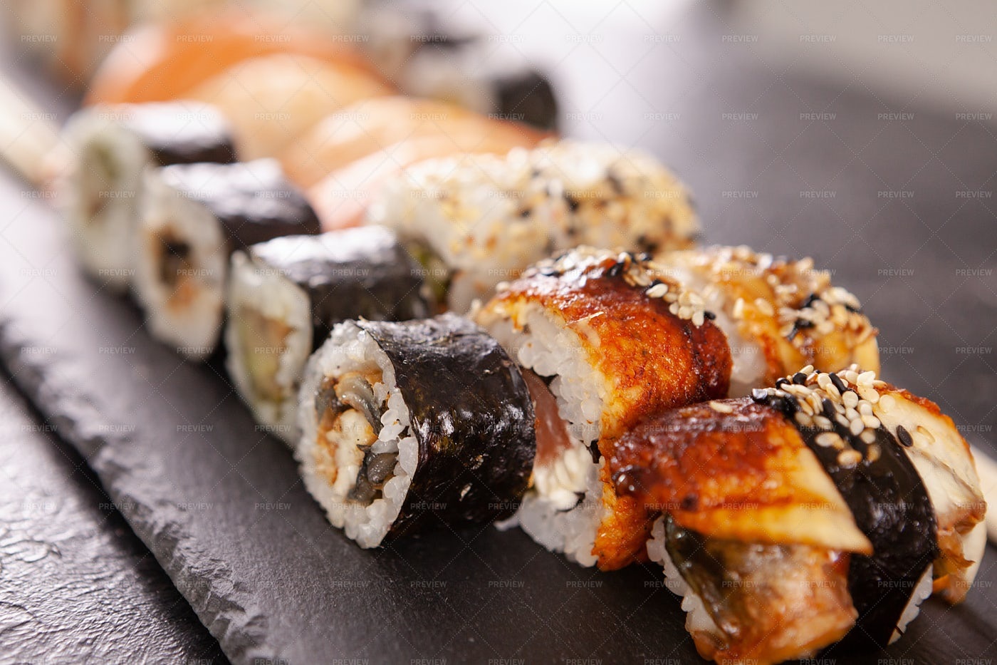 Plate Of Sushi: Stock Photos