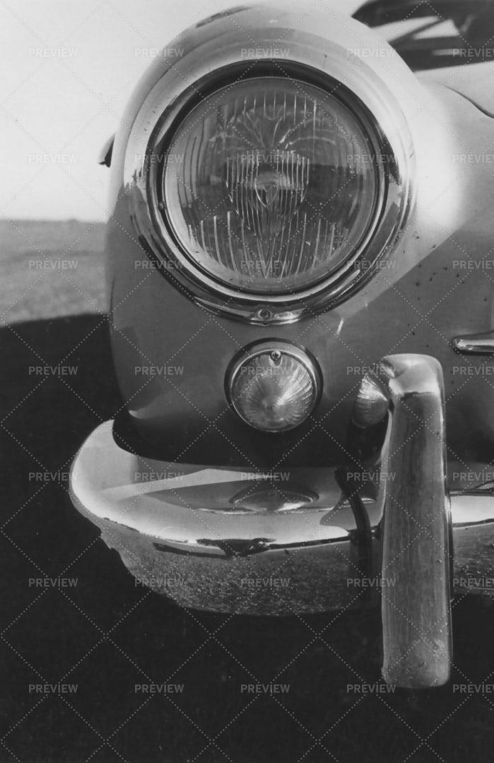 Antique Car Headlight: Stock Photos
