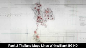 Thailand Maps: Motion Graphics
