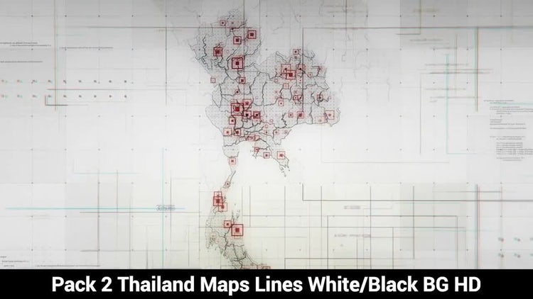 Thailand Maps: Stock Motion Graphics