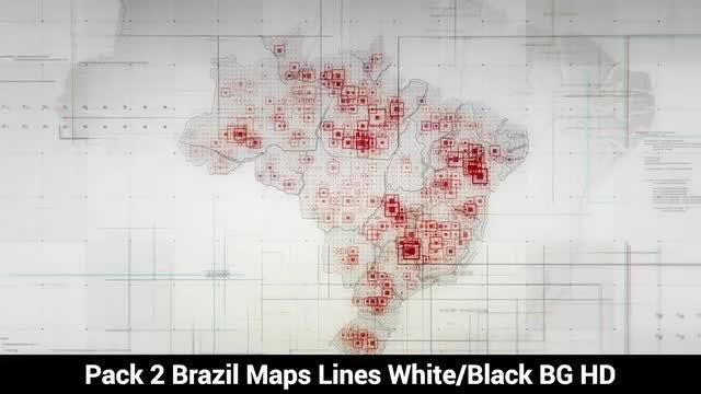Brazil Maps: Stock Motion Graphics
