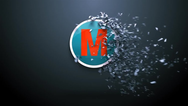 Fractured Logo Reveal: After Effects Templates