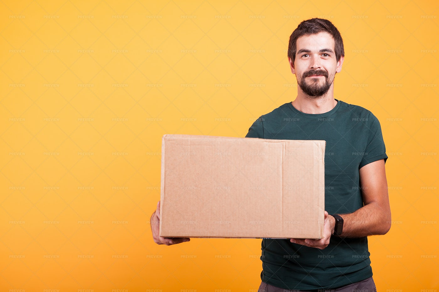 Confident Delivery Man: Stock Photos