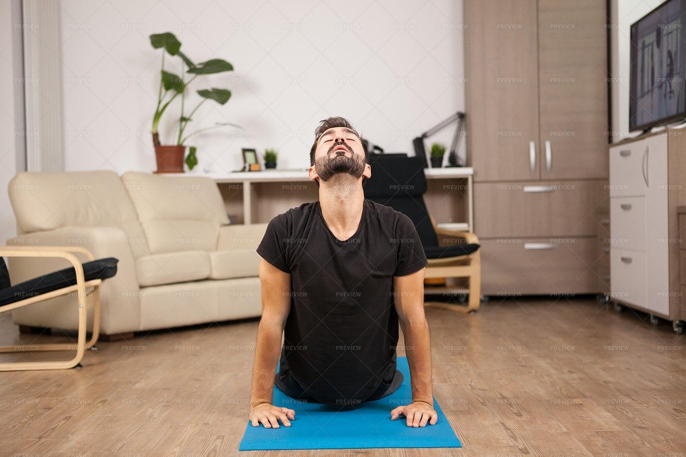 Cobra Yoga Pose: Stock Photos
