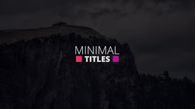 Colorful Simple Titles: Premiere Pro Templates