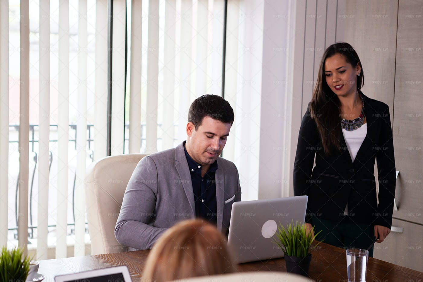 Coworkers In A Meeting: Stock Photos