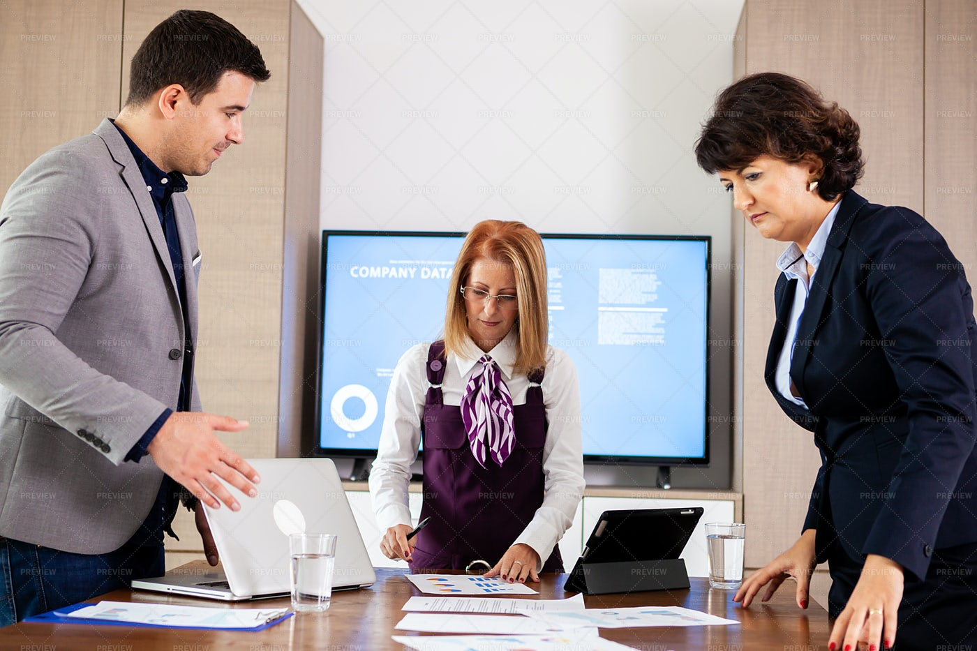 Business In Conference Room: Stock Photos