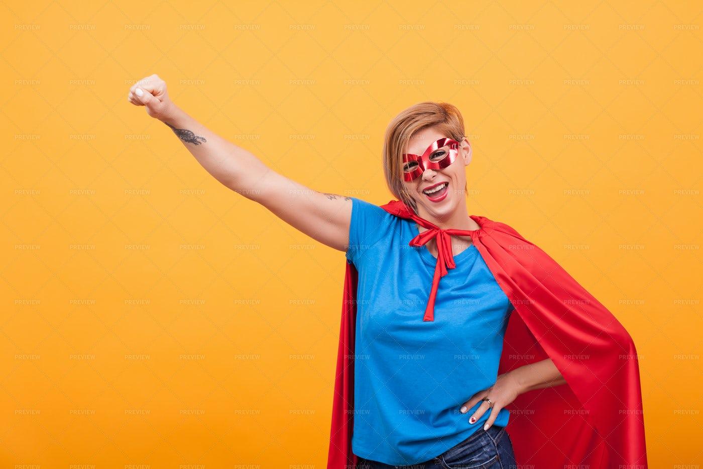 Super Mom Posing: Stock Photos
