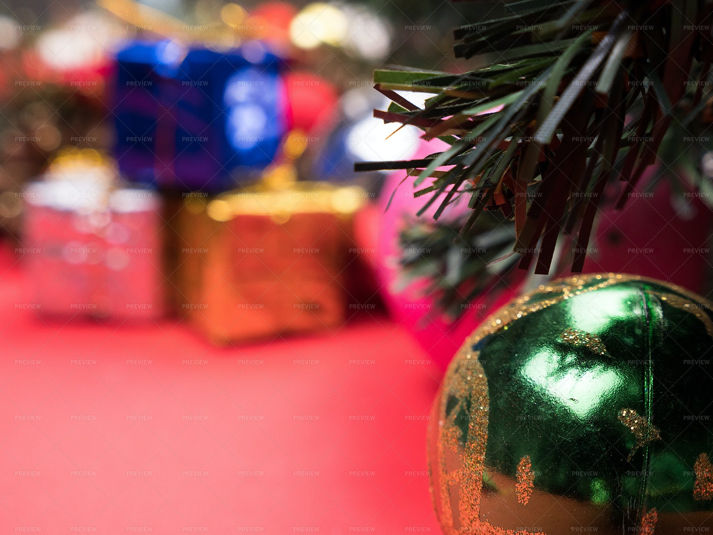 Christmas Gifts Under The Tree: Stock Photos