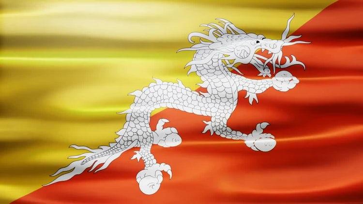 Bhutan Flag: Stock Motion Graphics