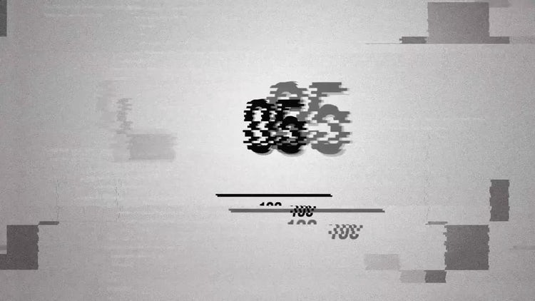 Glitch New Logo Black & White: After Effects Templates