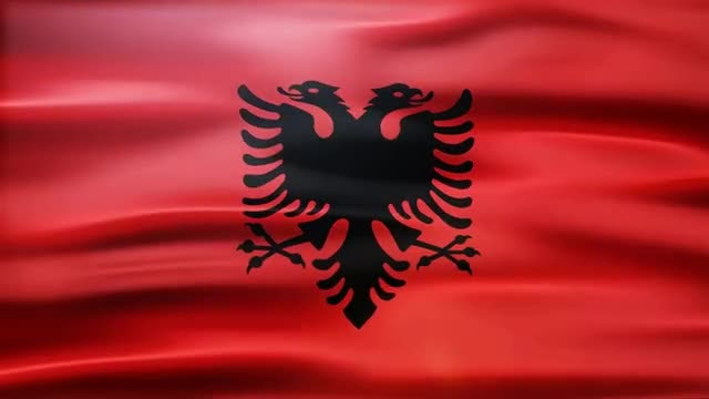 Albania Flag: Stock Motion Graphics