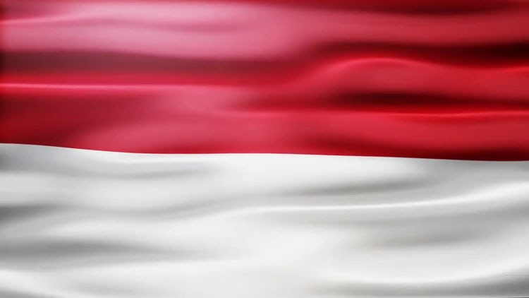 Indonesia Flag: Stock Motion Graphics