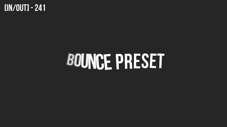 80 Bouncing Text Presets V4.0: After Effects Presets