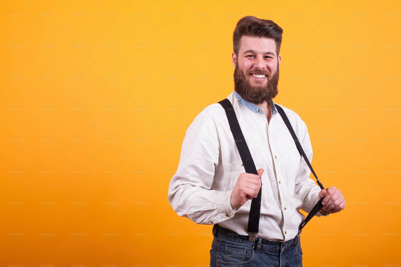 Pulling Suspenders: Stock Photos