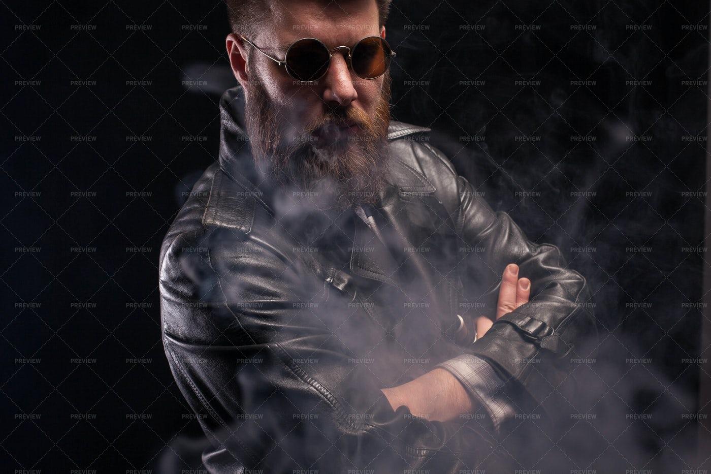 Man In Smoke Cloud: Stock Photos