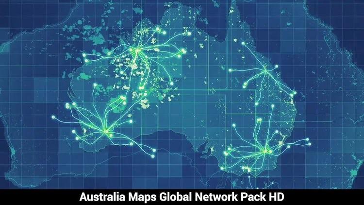 Australia Maps Network: Stock Motion Graphics