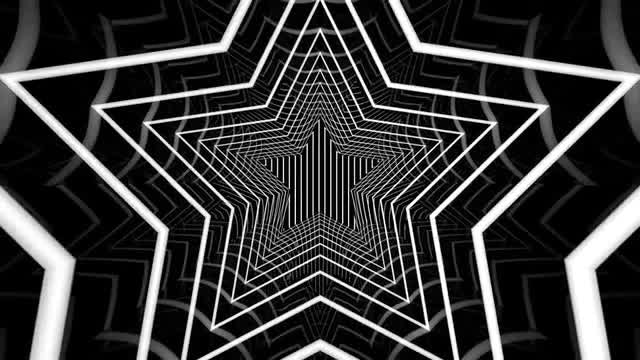 Star Tunnel Background: Stock Motion Graphics