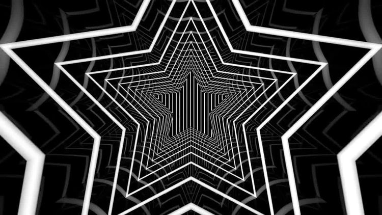 Star Tunnel Background: Motion Graphics