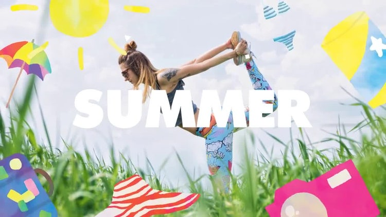 Stomp Summer Intro: After Effects Templates