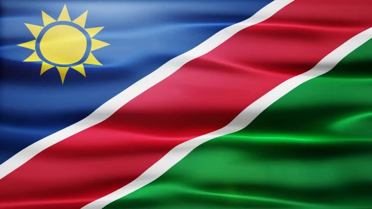 Namibia Flag: Motion Graphics