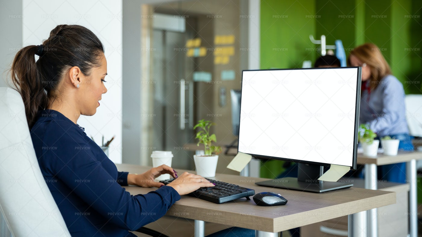 Working At Office Desk: Stock Photos