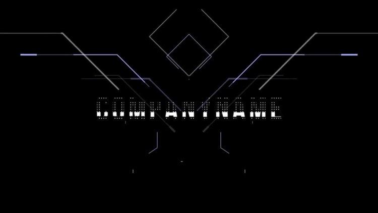 Digital Hexagon Logo Reveal: After Effects Templates