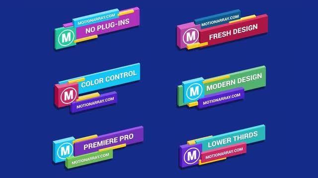 Isometric Lower Thirds: Premiere Pro Templates