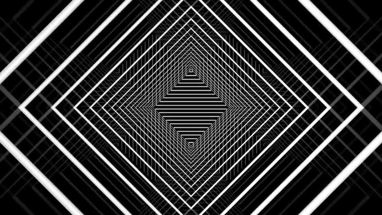 Rhomb Tunnel Background: Stock Motion Graphics
