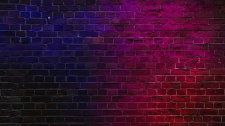 Colored Lights On Wall Background: Motion Graphics